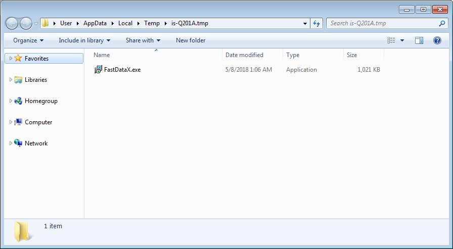 FastDataX.exe Trojan