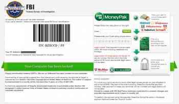 FBI Anti-Piracy Warning MoneyPak Ransomware Image