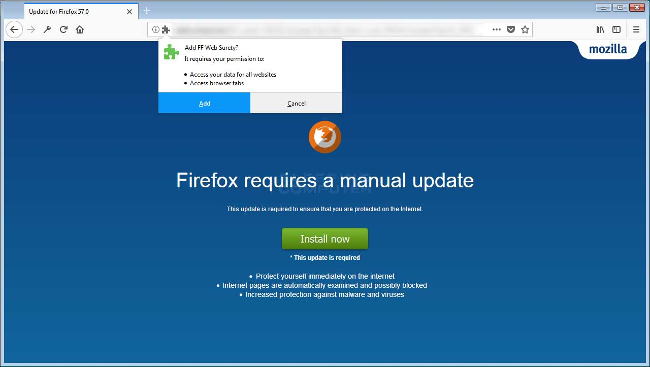 Malicious Firefox Addon