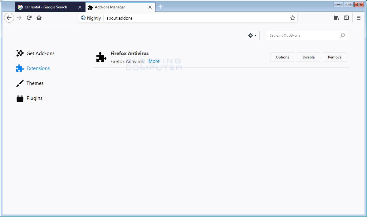 Firefox Antivirus Addon