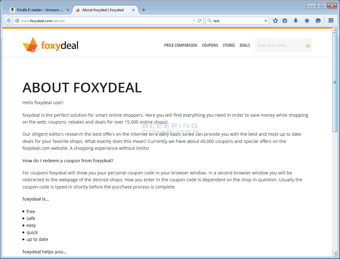 About page at FoxyDeal.com