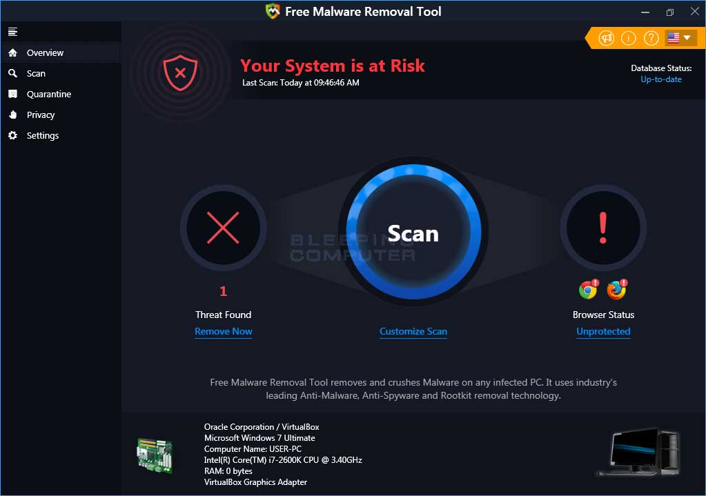 Free Malware Removal Tool PUP