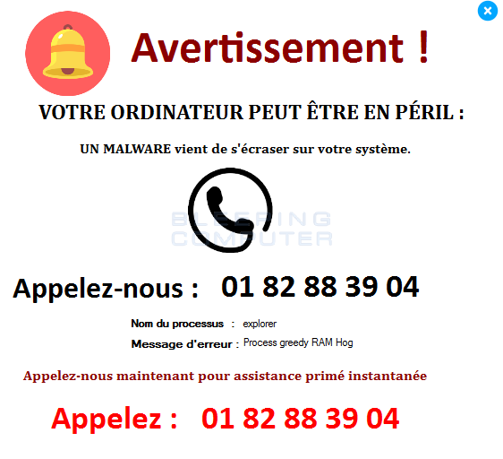 French Your Computer May Be In Danger Tech Support Scam