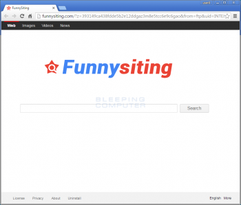 Funnysiting.com Browser Hijacker Image