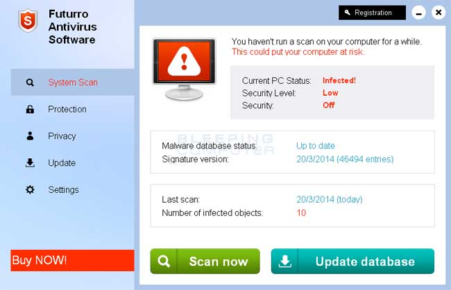 Futurro Antivirus Software screen shot
