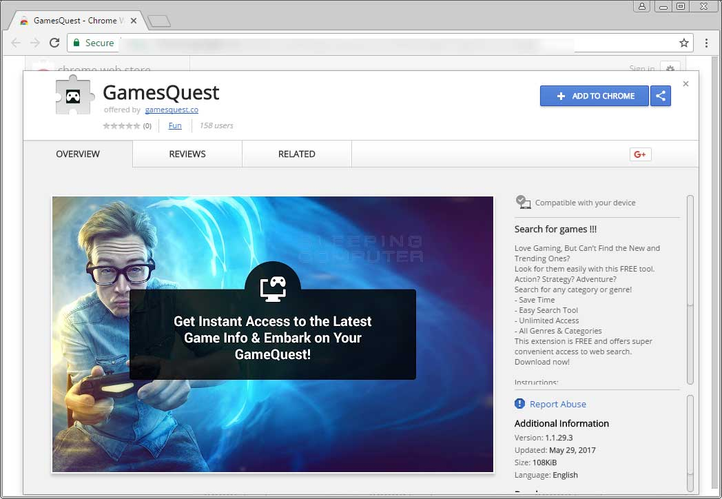 Remove the GamesQuest Chrome Extension