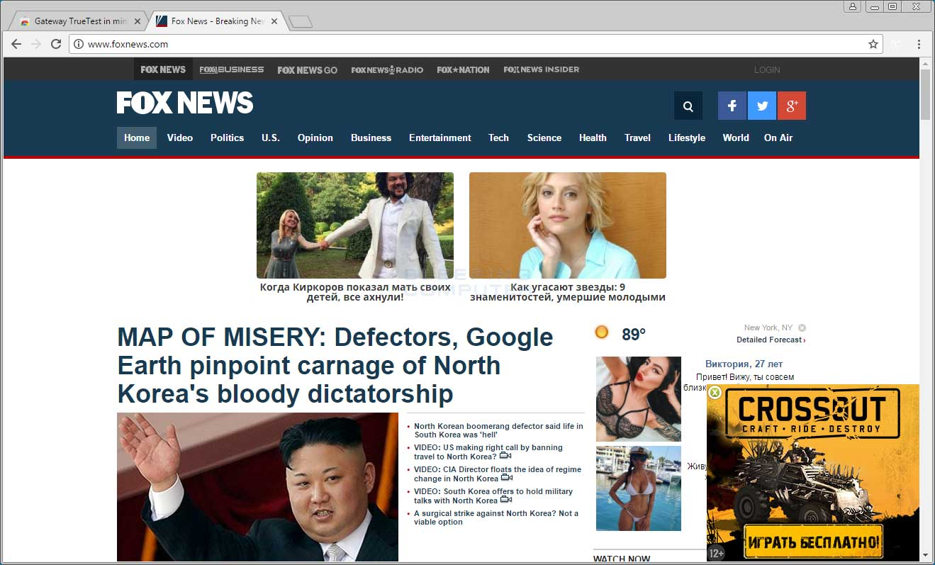 Russian Advertisements on Foxnews