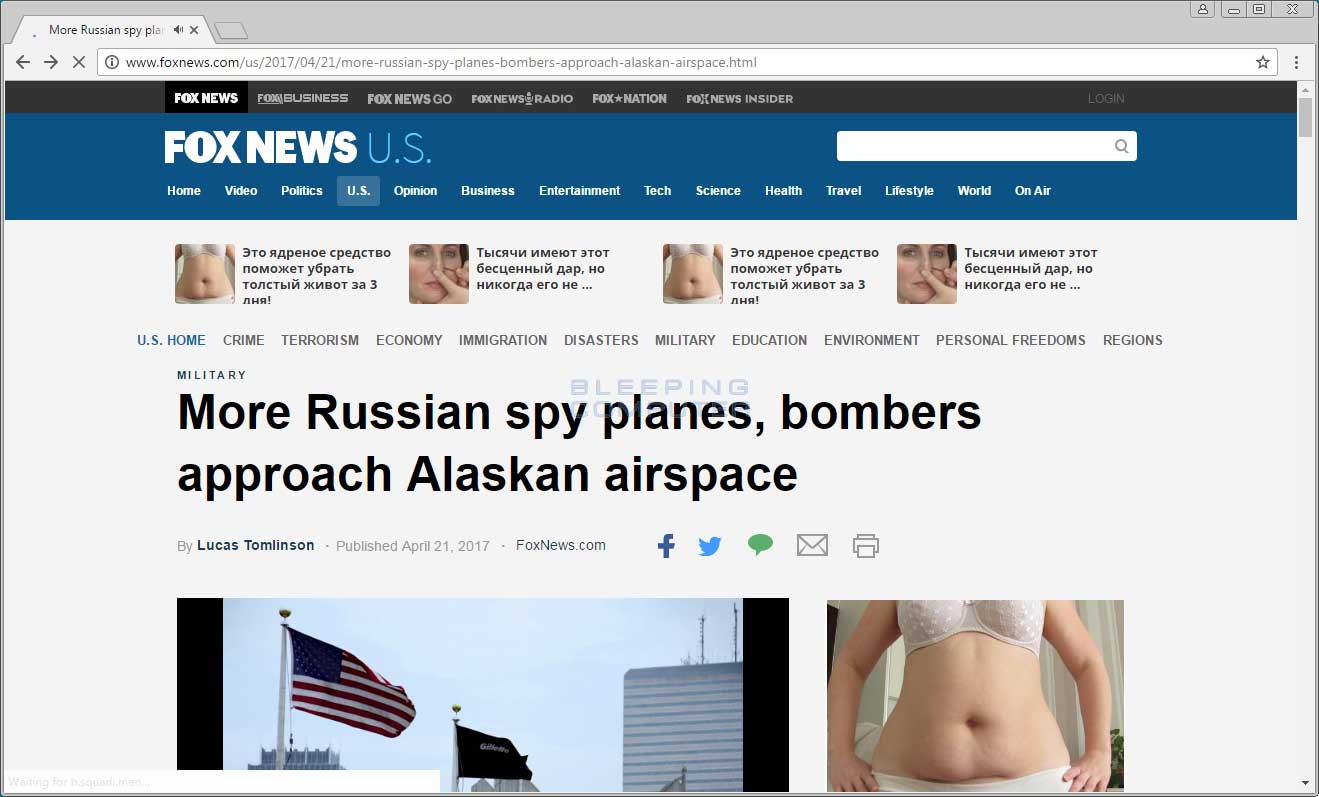 Russian Advertisements on Foxnews.com