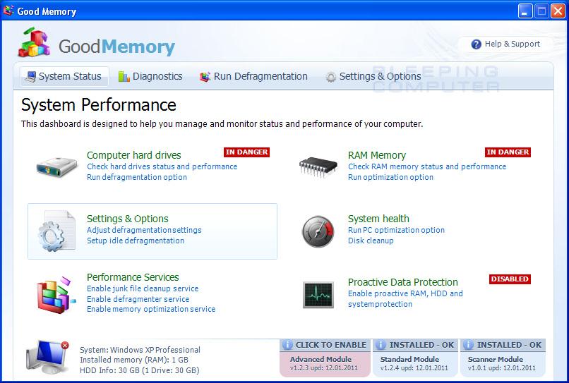 Good Memory screen shot