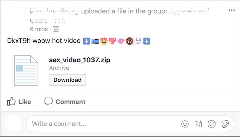 Facebook Message Spam