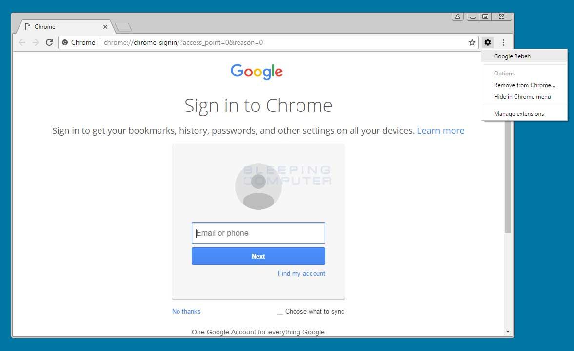 Google Bebeh Extension