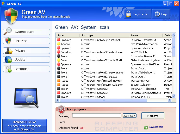 Green AV screen shot