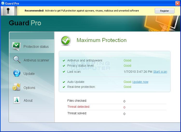 Guard Pro Screen shot