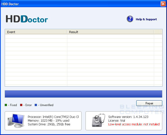 HDD Doctor screen shot