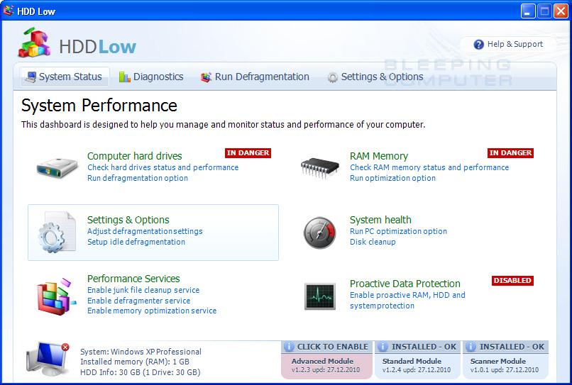 HDD Low screen shot