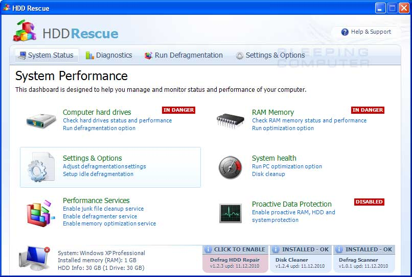 HDD Rescue screen shot