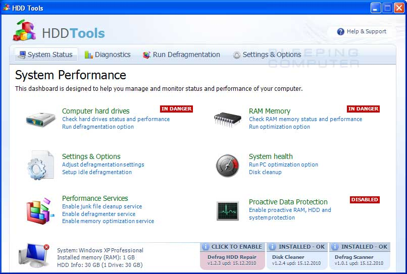 HDD Tools screen shot