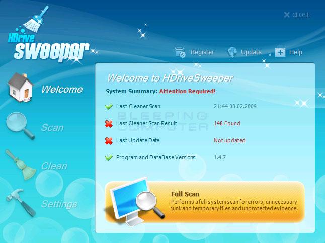 HDriveSweeper screen shot