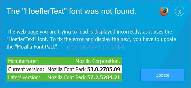 Firefox HoeflerText Font Alert