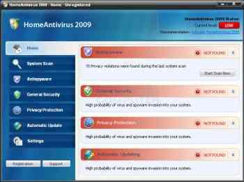 HomeAntivirus 2009 Image