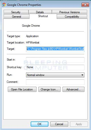 Modified Chrome Shortcut