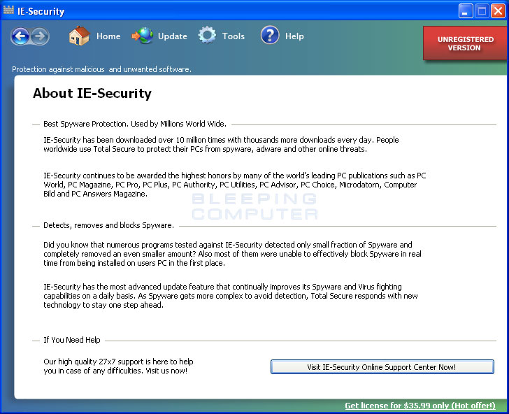 IE-Security's about page