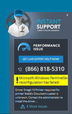 How to remove InstantSupport Tech Support Alerts (Removal Guide)