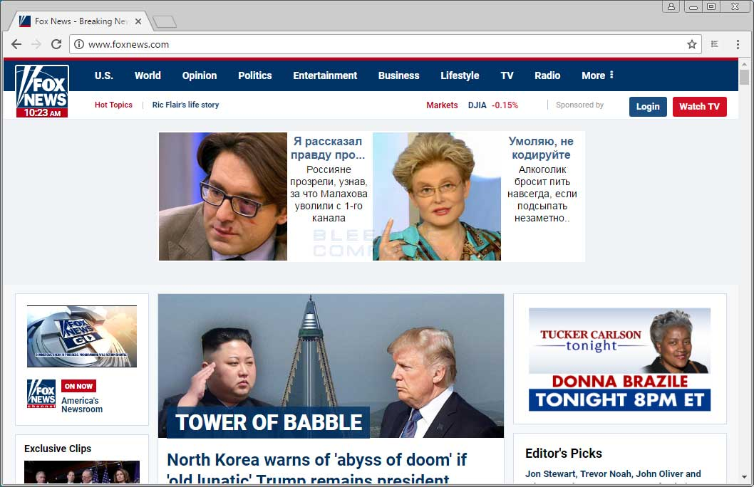 Russian Ads on Foxnews.com