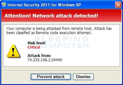 Network attack alert