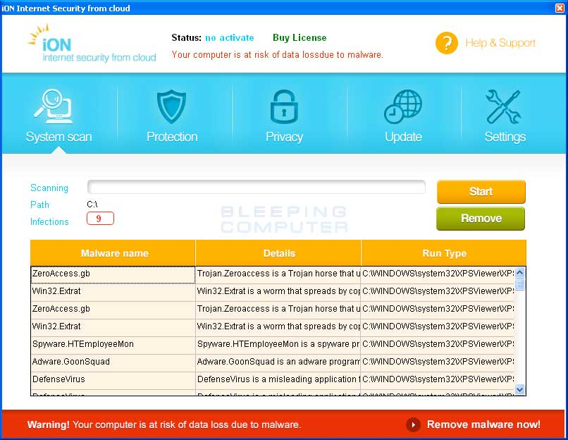 iON Internet Security screen shot