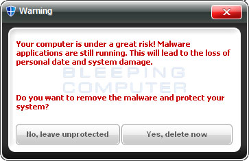 Fake warning