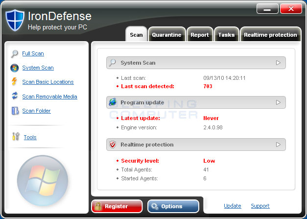 IronDefense screen shot