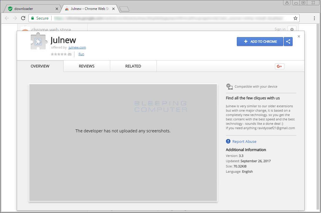Chrome Web Store Entry