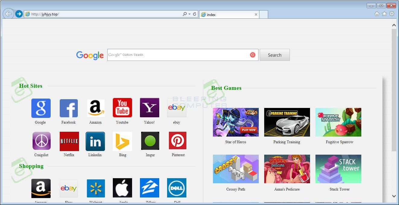 Jyhjyy.top Browser Hijacker