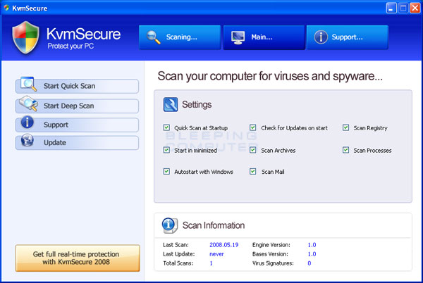 Screen shot of KvmSecure