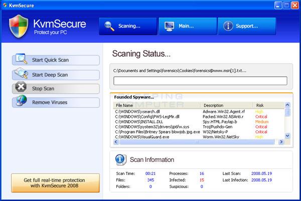 KvmSecure scan results