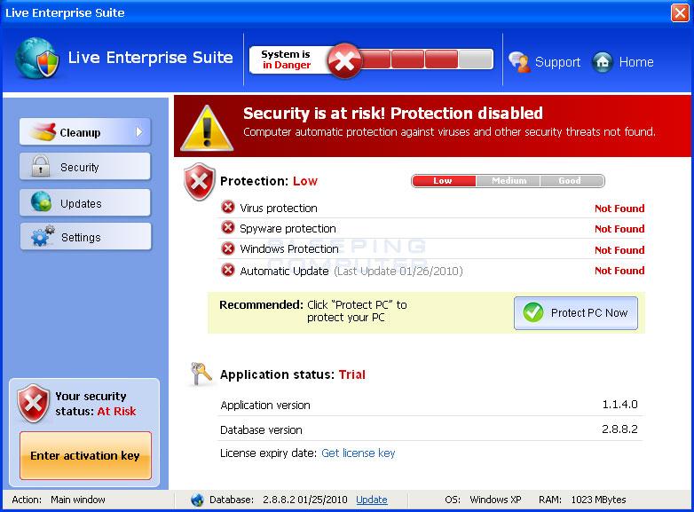 Live Enterprise Suite screen shot