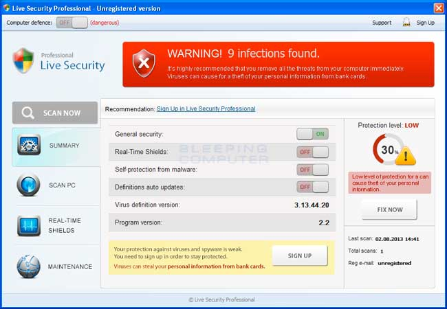 Live Security Professional screen shot