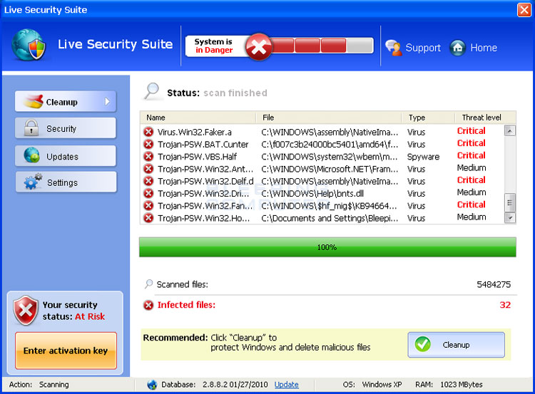 Live Security Suite screen shot