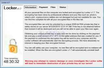 Locker Ransomware Screenshot