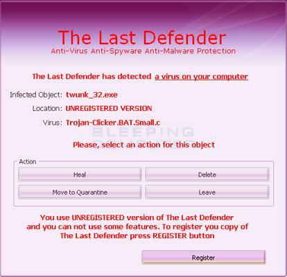 The Last Defender False Positive