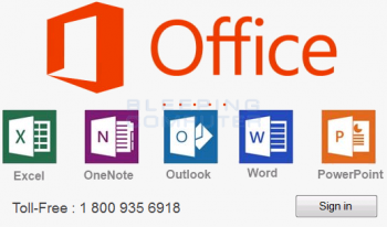 Microsoft Office Activation Tech Support Scam Screenshot