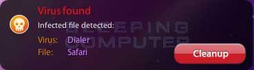 Virus Found Alert