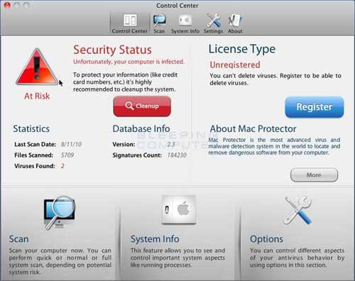Mac Protector Screen shot