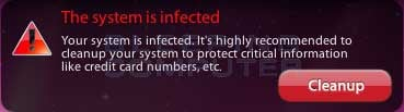 System is Infected alert