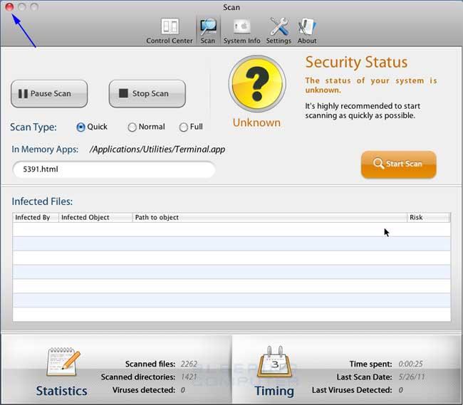 <strong>Mac Security</strong> Start Screen