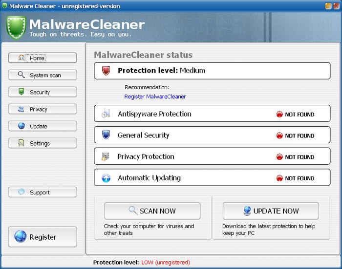 MalwareCleaner screen shot