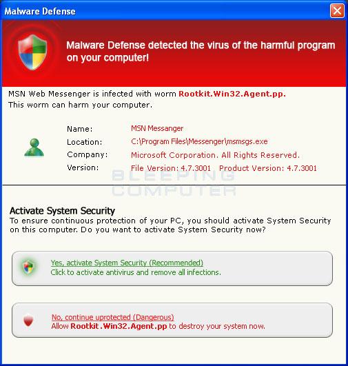 Fake Security Warning #1