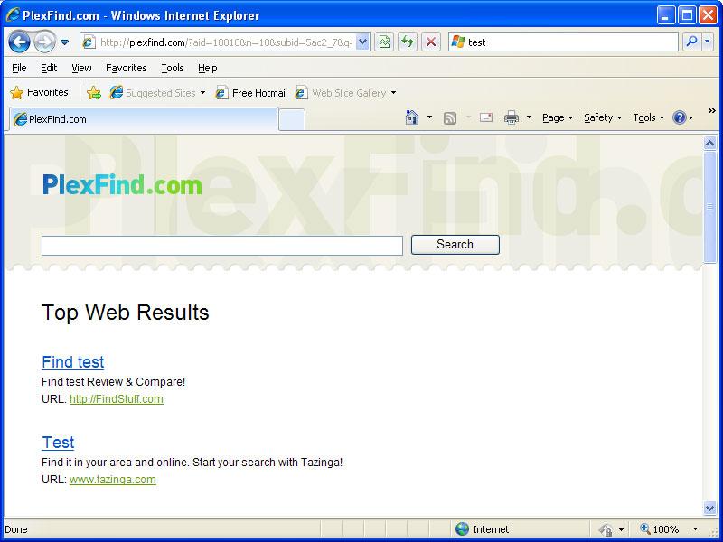Plexfind search hijack