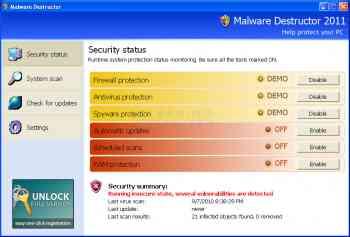 Malware Destructor 2011 Image